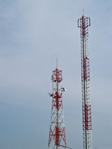 Free Mobile Phone Communication Tower Royalty Free Stock Photos - 17775698