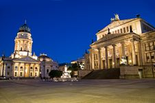 Free Berlin Gendarmenmarkt Sunset Royalty Free Stock Image - 17775926