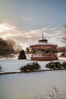 Free Bandstand And Frozen Lake Stock Images - 17776974