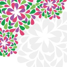 Free Floral Card With Space For Text Royalty Free Stock Photos - 17777258