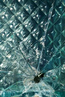 Glass  Broken   Shot  Hole Royalty Free Stock Images
