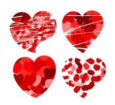 Hearts With Patterns Royalty Free Stock Photography