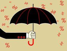Hand With Umbrella Stock Image