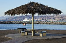 Free View On The Northern Beach In Eilat Royalty Free Stock Photography - 17779517