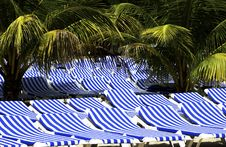Free Lounge Chairs On Beach Royalty Free Stock Photography - 17779757