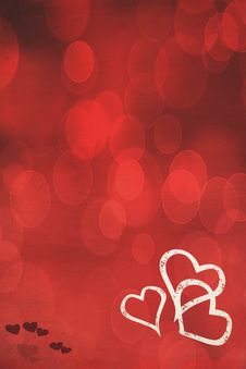 Free Red Heart Background Royalty Free Stock Photo - 17779985