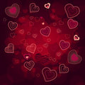 Free Contour Hearts On Dark Red Background Royalty Free Stock Photo - 17780185