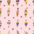 Free Seamless Ice Cream Pattern Royalty Free Stock Image - 17784996