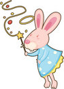 Free Rabbit With Magic Stick Royalty Free Stock Photo - 17786905
