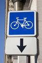 Free Cycle Lane Sign Royalty Free Stock Photos - 17788038