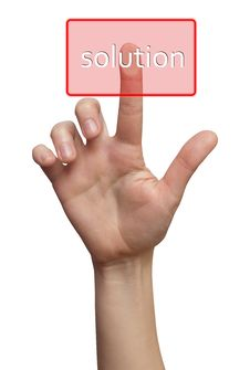 Free Finger Choice Solution Button Stock Photos - 17780023