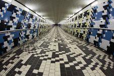 Free Walking In A Pedestrian Tunnel Stock Image - 17780031