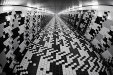 Free Walking In A Pedestrian Tunnel Stock Image - 17780041