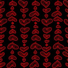 Free Seamless Sketch Hearts Pattern. Stock Photo - 17780080