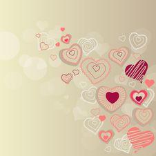 Free Contour Hearts On Pastel Background Stock Photo - 17780120