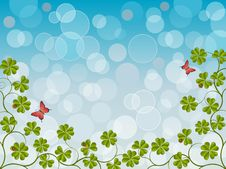 Free Floral Background With A Clover Stock Image - 17780271