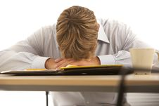 Free Businessman Sleeping At Desk Stock Images - 17780344