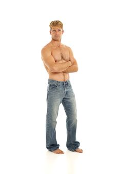 Shirtless Young Man Stock Photography