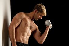 Free Young Man Lifting Weights Royalty Free Stock Image - 17780496