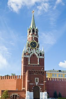 Free Spasskaya Tower Of Moscow Kremlin Royalty Free Stock Photography - 17780867