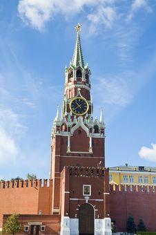Free Spasskaya Tower Of Moscow Kremlin Royalty Free Stock Photography - 17780867