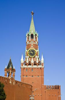 Free Spasskaya Tower Of Moscow Kremlin Royalty Free Stock Photos - 17780898