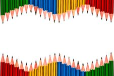 Free Pencils On White Background Royalty Free Stock Photo - 17781295