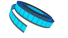 Free Blue Segment Color Film Rolled Down Stock Photo - 17781350