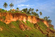 Free Tropical Huts On A Clifftop Stock Image - 17781681