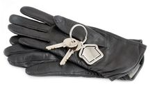 Free Gloves With House Keys Stock Photography - 17781862