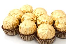 Free Chocolates In A Gold Wrapper Royalty Free Stock Image - 17782406