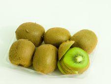 Kiwi Fruit In Plastic Tray Stock Photo