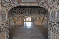 Free Interior Of Amber Fort Royalty Free Stock Image - 17782786