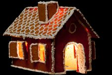 Free Christmas Gingernut House Stock Photography - 17782892