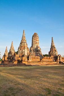 Free Ancient Pagoda-Ayutthaya Thailand Stock Image - 17782921