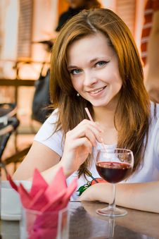 Free Girl In Cafe Stock Photography - 17782952
