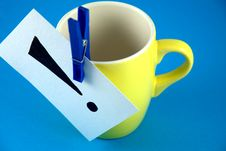 Free An Exclamation Mark On The Cup Stock Photo - 17783010