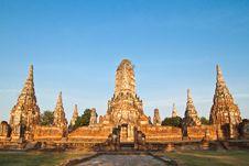 Free Ancient Pagoda-Ayutthaya Thailand Stock Photography - 17783022