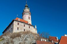 Free Castle Tower In Cesky Krumlov Stock Photos - 17783073