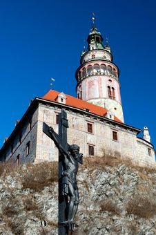Free Castle Tower In Cesky Krumlov Stock Image - 17783151