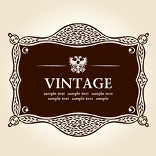 Free Vintage Frame.  Background Royalty Free Stock Image - 17783216