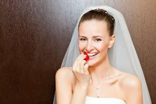 Free Bride With Strawberry Stock Images - 17784624