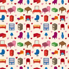 Free Seamless Furniture Pattern Stock Photos - 17785013