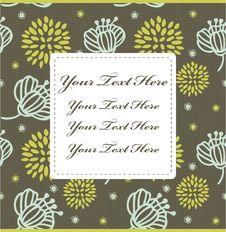 Free Cartoon Flower Card Stock Photo - 17785040