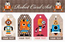 Free Cartoon Robot Card Stock Photos - 17785043
