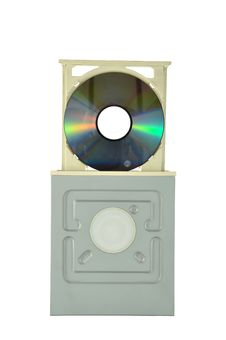 DVD Drive With Cd Royalty Free Stock Image