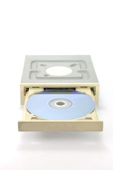 DVD Drive With DVD Royalty Free Stock Photography
