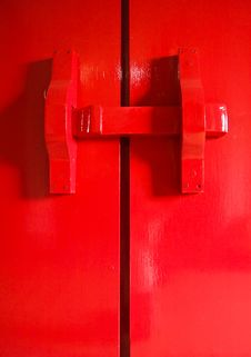 Red Latch Gate Stock Images