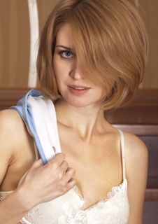 Portrait Beautiful Blonde Royalty Free Stock Image