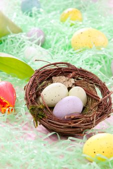 Free Colorful Painted Easter Eggs Royalty Free Stock Image - 17786826